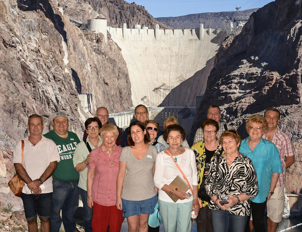 WCC delegates at Hoover Dam